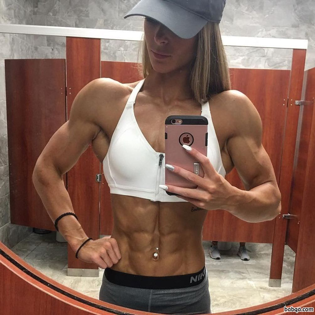 sexy lady with fitness body and muscle booty photo from tumblr