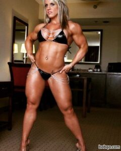 cute woman with muscle body and muscle bottom picture from linkedin