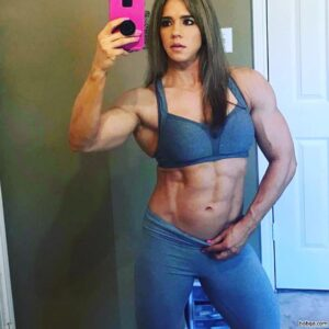 spicy woman with muscular body and toned biceps post from tumblr