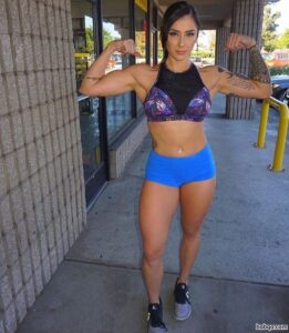 beautiful female with fitness body and muscle booty repost from linkedin