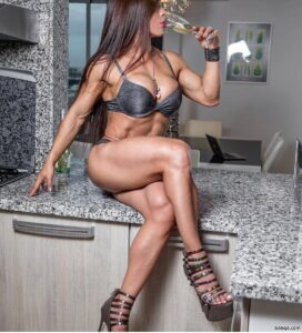 awesome female bodybuilder with fitness body and muscle arms image from insta