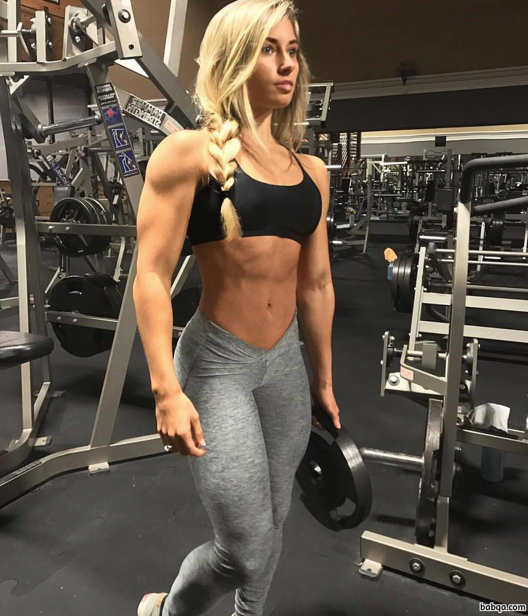 beautiful babe with fitness body and muscle booty repost from facebook