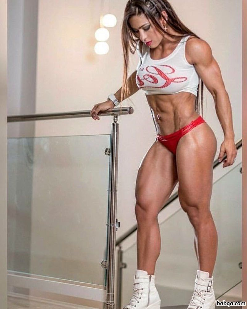 hot female with muscle body and muscle legs picture from reddit