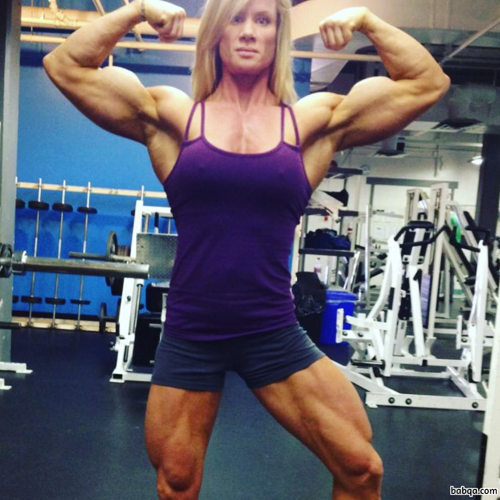 perfect lady with fitness body and muscle arms pic from linkedin