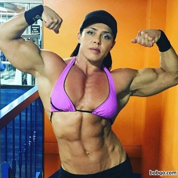 spicy woman with fitness body and toned arms pic from instagram