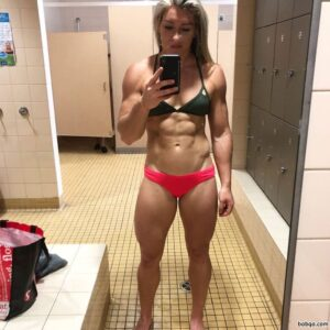 sexy female bodybuilder with strong body and toned booty picture from instagram