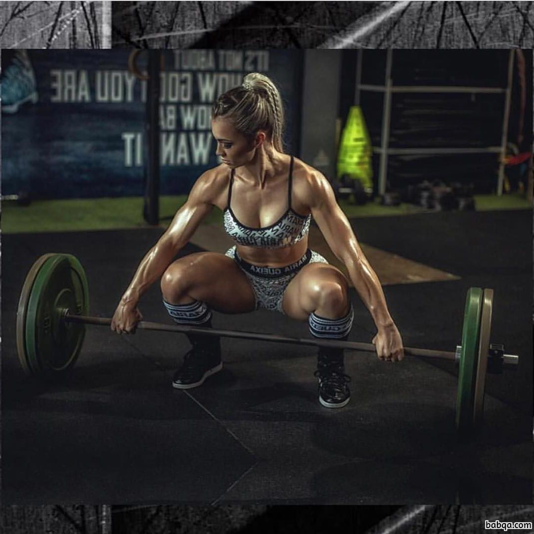 cute lady with strong body and muscle arms photo from linkedin