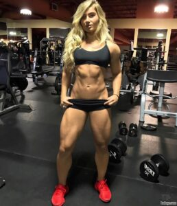 sexy girl with muscle body and toned legs picture from reddit