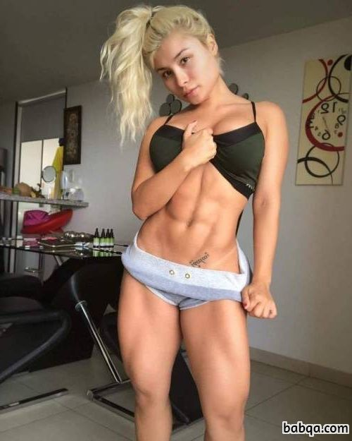 hot woman with muscular body and toned booty repost from facebook
