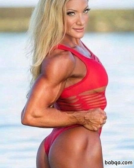 hottest female bodybuilder with muscle body and toned legs picture from reddit