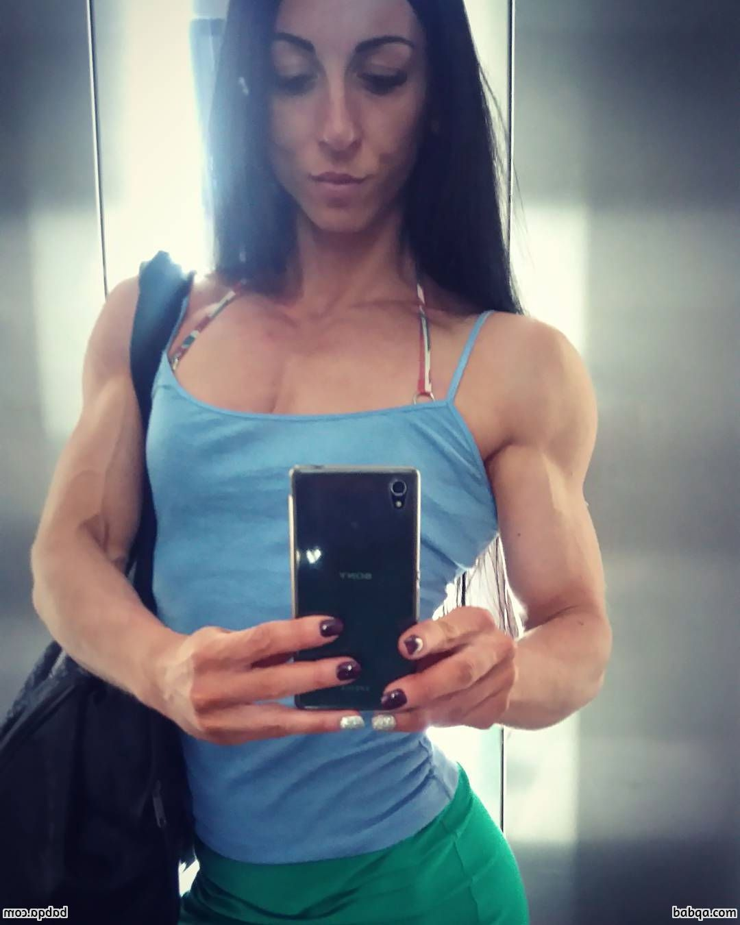 awesome female bodybuilder with muscle body and toned biceps photo from instagram