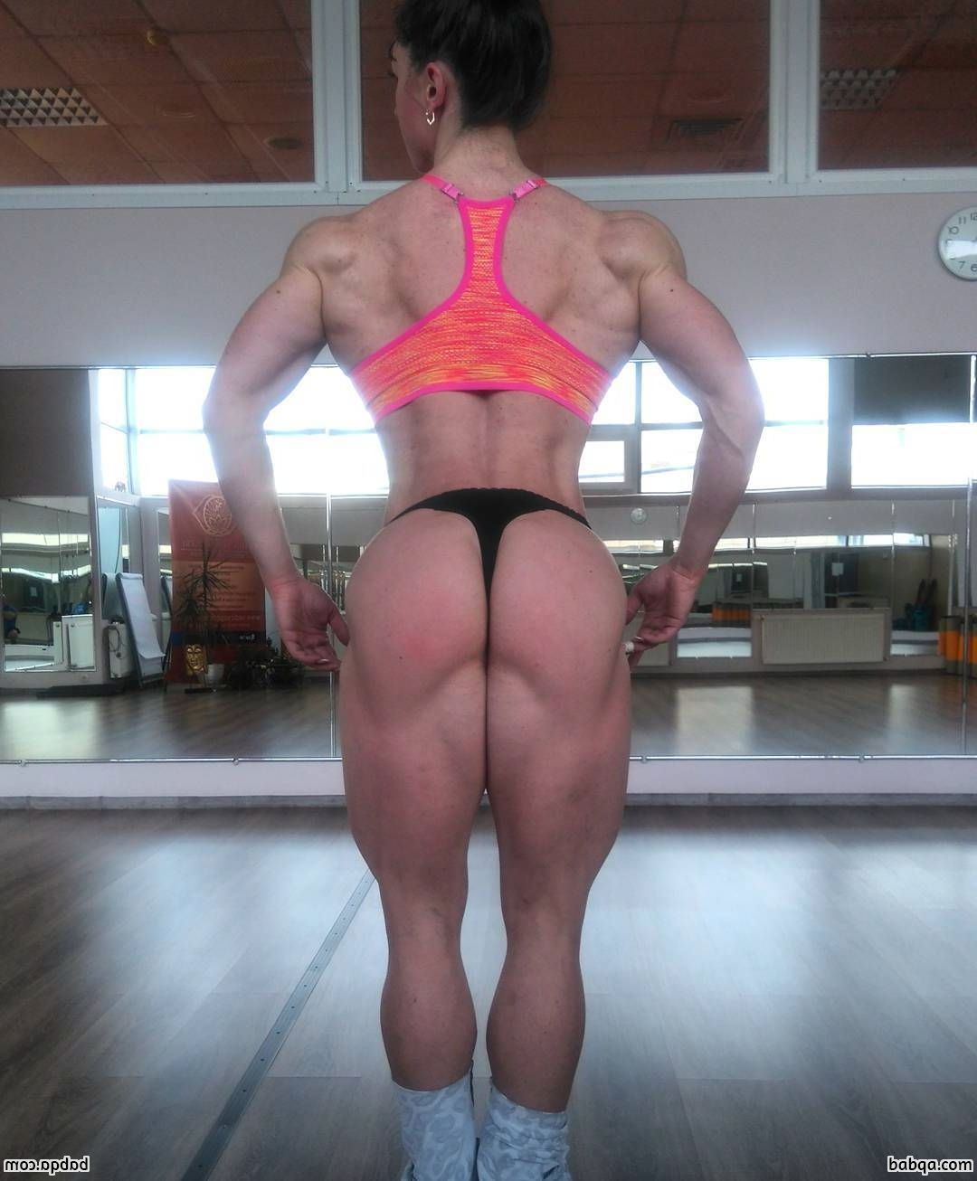 hottest chick with fitness body and muscle arms image from tumblr