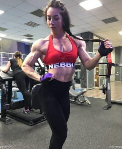hottest female with fitness body and muscle bottom repost from flickr