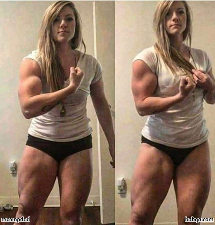 hot female bodybuilder with muscular body and toned arms image from facebook