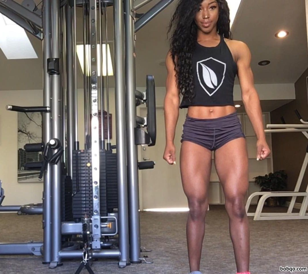 spicy female with muscular body and toned biceps post from tumblr