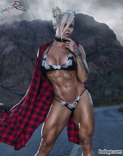 spicy female with strong body and muscle bottom post from reddit