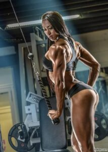 spicy female bodybuilder with muscular body and toned biceps photo from g+