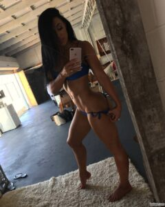 cute lady with muscle body and muscle arms photo from facebook